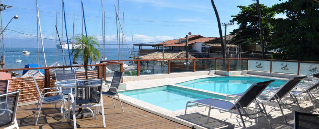 Hotel Fita Azul - Vista da piscina - Portal Ilhabela.com.br