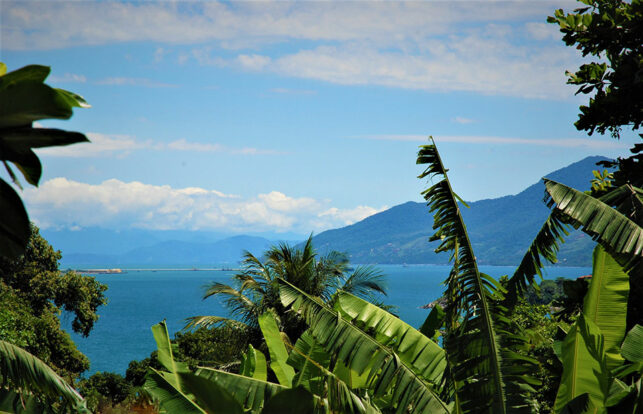 Vista panorâmica Ilhabela - Pousada Banana Verde - Ilhabela.com.br
