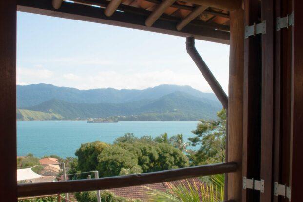 Ilhabela - Pousada Refúgio da Harmonia - Pousada com vista para o mar no sul de Ilhabela