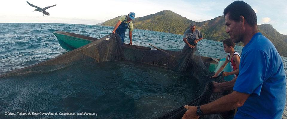 Cerco de pesca - Praia de Castelhanos - Ilhabela - Turismo de Base Comunitária Castelhanos