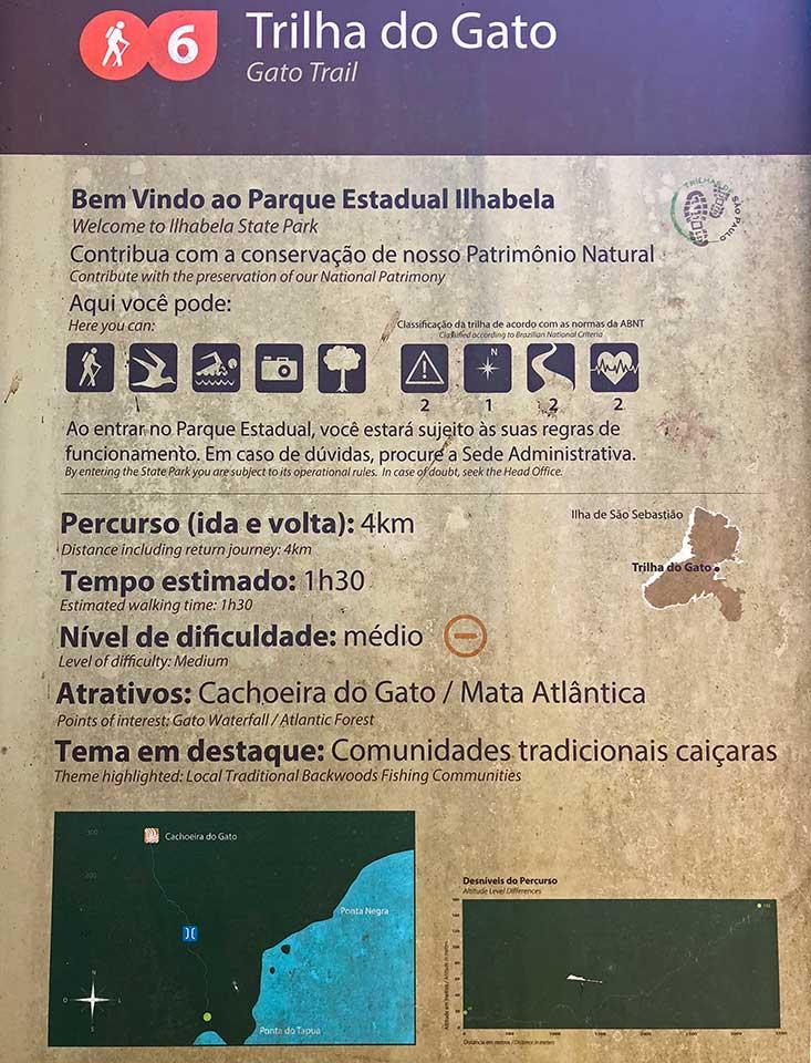 Trilha da Cachoeira do Gato - Baia de Castelhanos - Ilhabela
