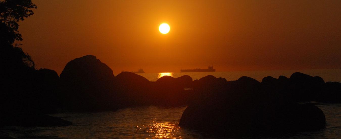 Pôr do Sol na Praia do Julião - Ilhabela (Foto: Fernando Tomanik)