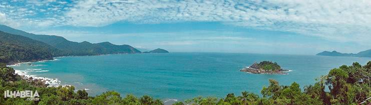 Vista do Mirante do Gato - Praia do Gato / Castelhanos - Ilhabela - Ilhabela.com.br