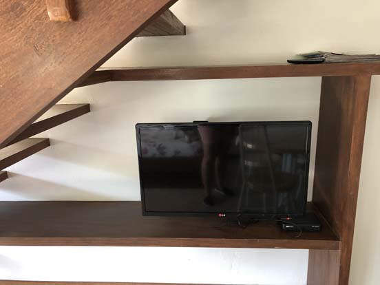 Chalé com TV tela plana em Ilhabela - Chalés Família Reis
