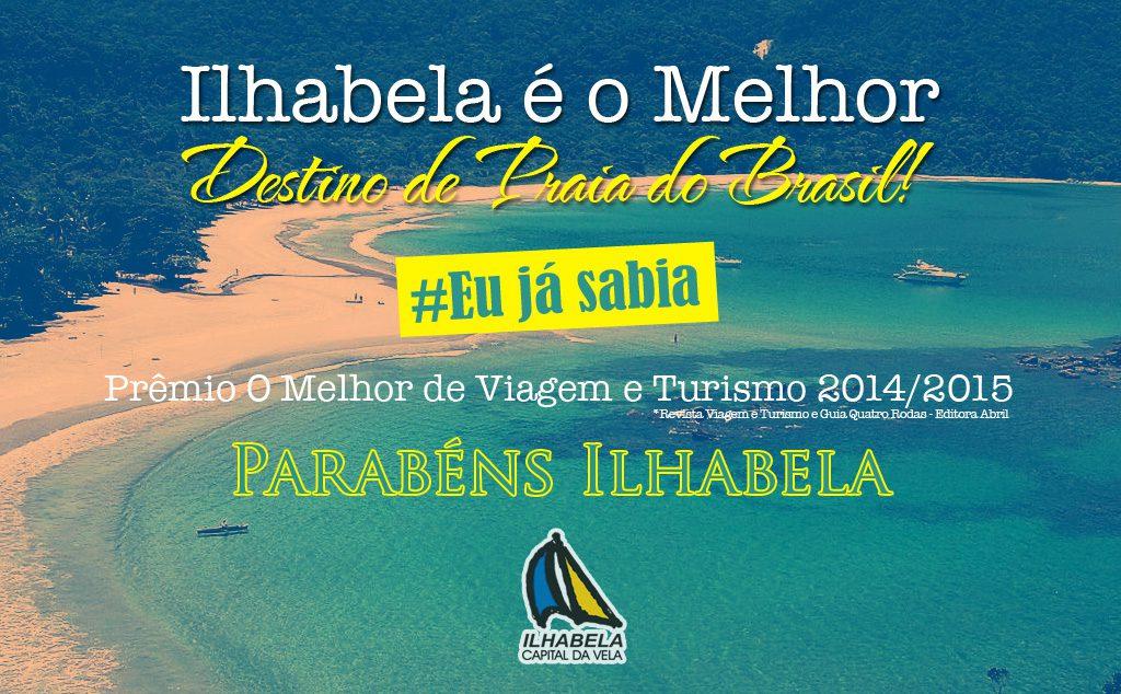 Ilhabela é eleita o melhor destino de Praia do Brasil