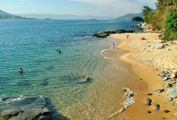 Ilhabela - Praia do Oscar vista de cima (Foto: Sectur Ilhabela)