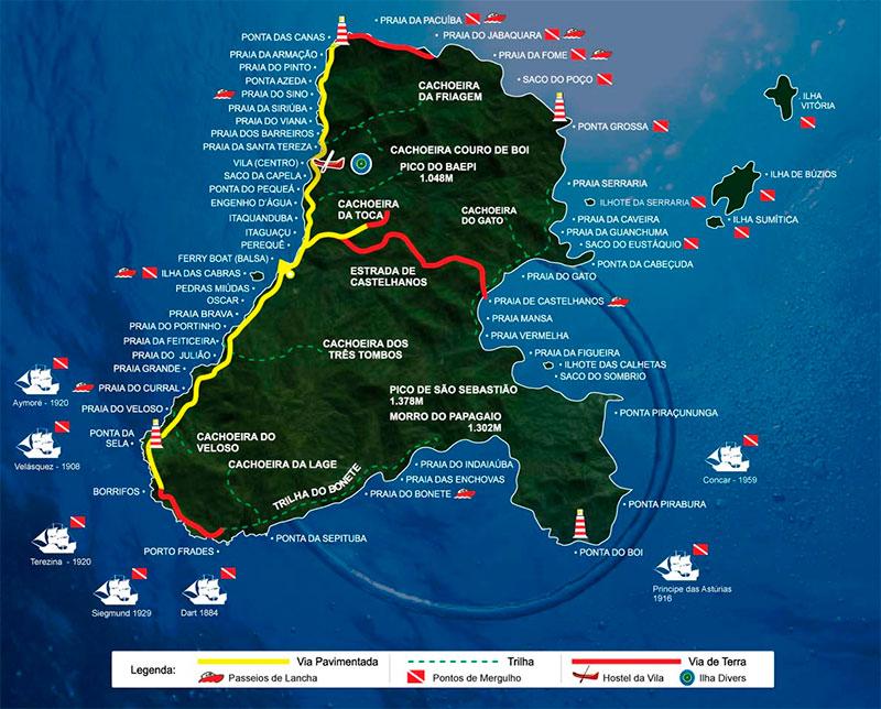 Onde Mergulhar em Ilhabela - Pontos de Mergulho - Ilha Divers