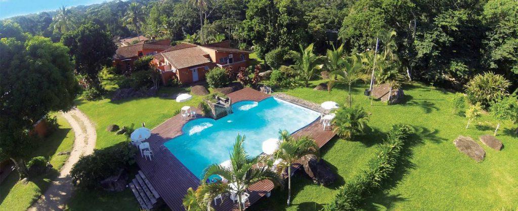 Pousada Caravela Bromelias - Vista aérea - Portal Ilhabela.com.br