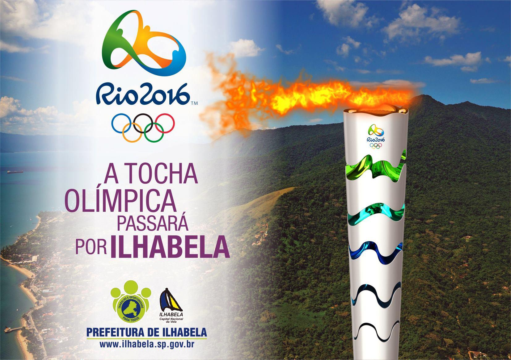 Tocha olímpica - Rio 2016 - Portal Ilhabela.com.br