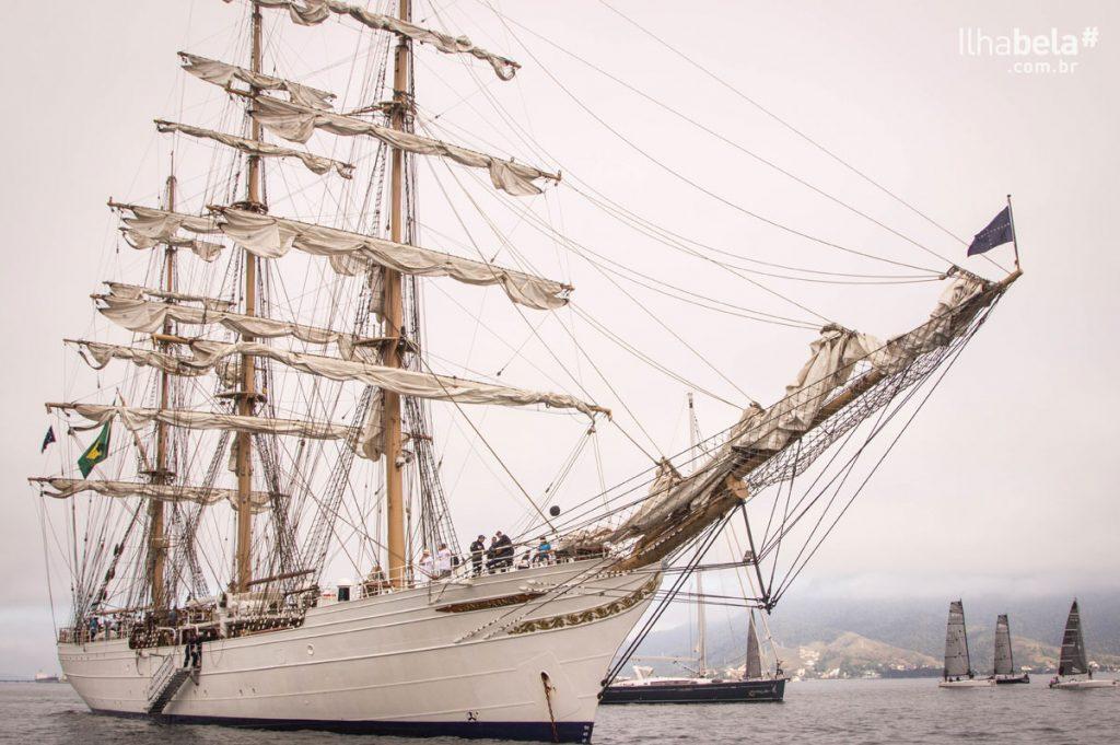 Navio Veleiro Cisne Branco na Semana de Vela de Ilhabela - Portal Ilhabela.com.br