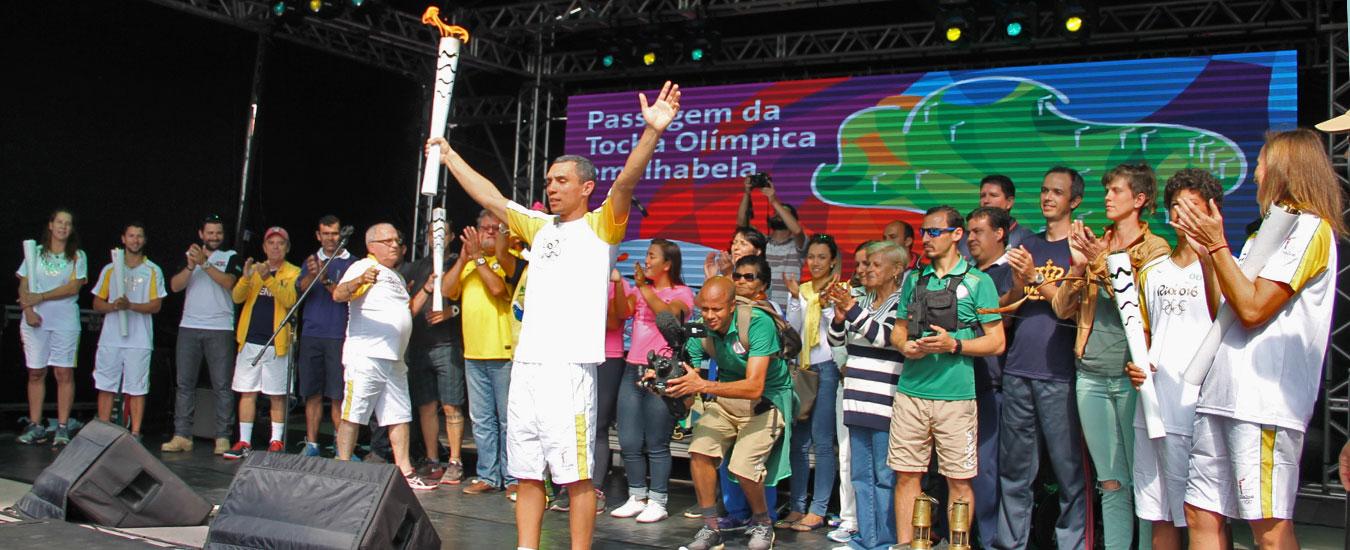 Rio 2016 - Tocha Olímpica em Ilhabela, Capital da Vela - Portal Ilhabela.com.br