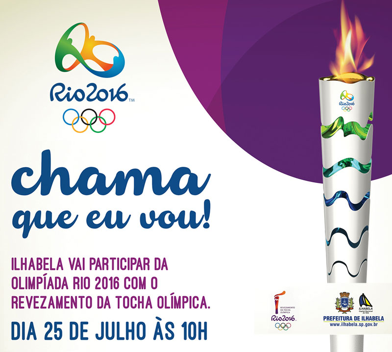 Tocha Olímpica em Ilhabela - Rio 2016