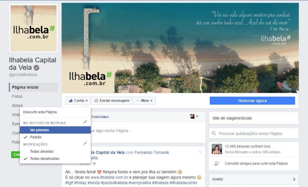Ver Primeiro atualizações do Facebook - Portal Ilhabela.com.br