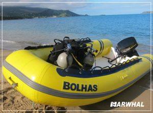 mergulho-com-a-narwhal-em-ilhabela-bote-bolhas
