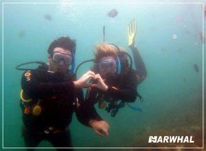 mergulho-com-a-narwhal-em-ilhabela-casal-fundo-do-mar