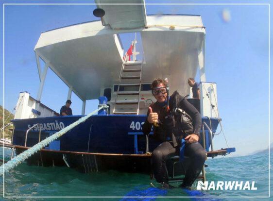 Narwhal Mergulho em Ilhabela - Embarcação