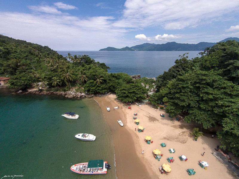 Praia do Eustáquio em Ilhabela - Passeio de barco Flexboat - Maremar Turismo