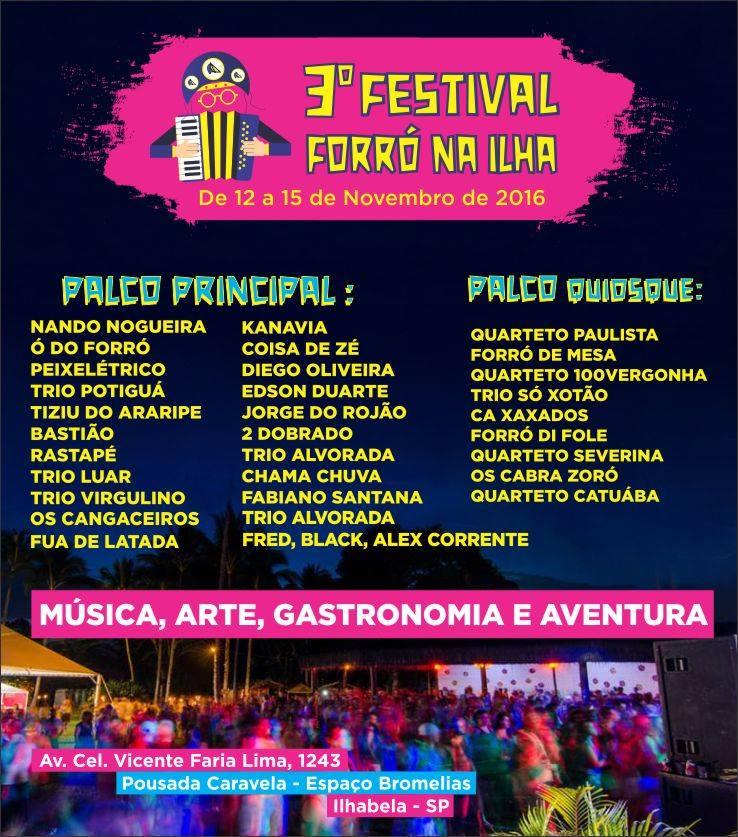 Programação - 3o Festival Forró na Ilha