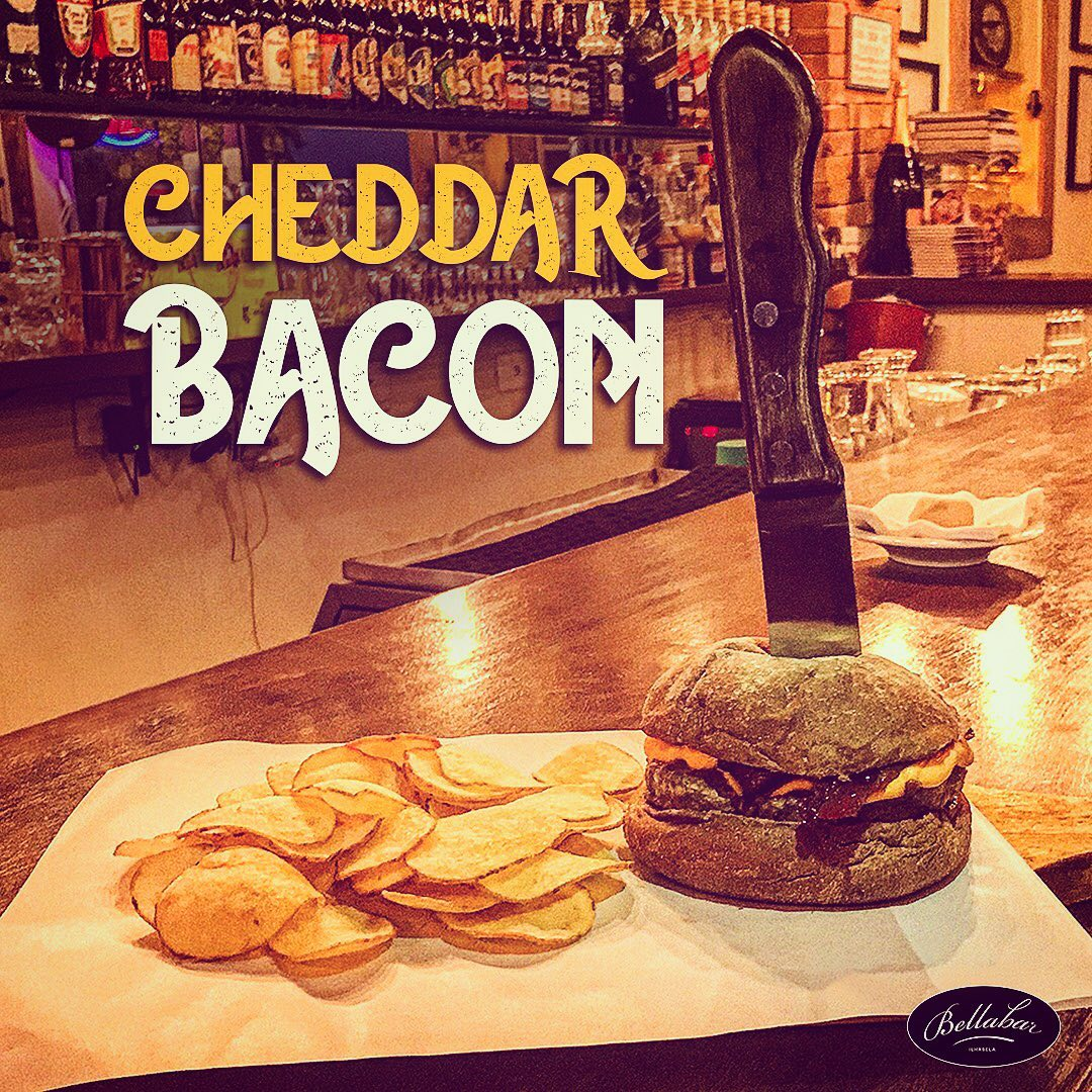 Burguer Cheddar e Bacon - Bella Bar Ilhabela