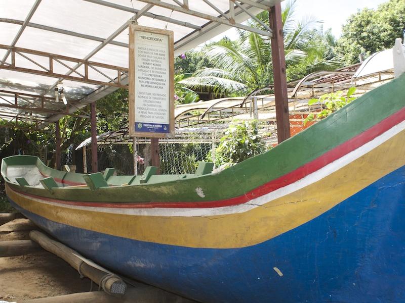 Canoa de voga (Imagem: Arquivo Pessoal/Alessandra Stefani)