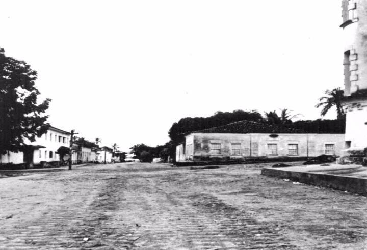 Rua da Padroeira antigamente (Acervo Prefeitura de Ilhabela/Secretaria Municipal de Cultura)