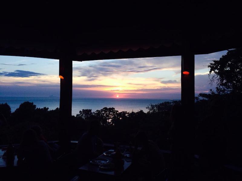 Vista do por do sol do Nova Iorqui (Imagem: Divulgação/Bar e Restaurante Nova Iorqui)