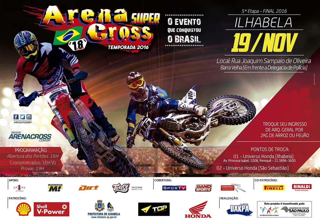 Final do Arena Cross 2016 em Ilhabela