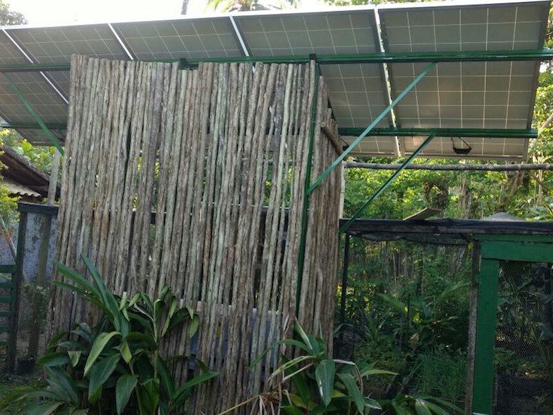 Placa solar no Bonete (Imagem: Divulgação/Associação Bonete Sempre)