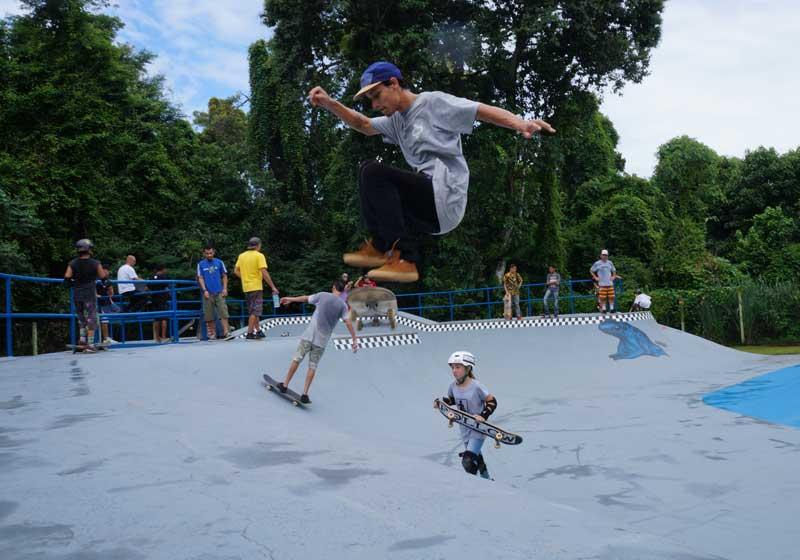Skate em Ilhabela (Foto: Ivan Misael / PMI)