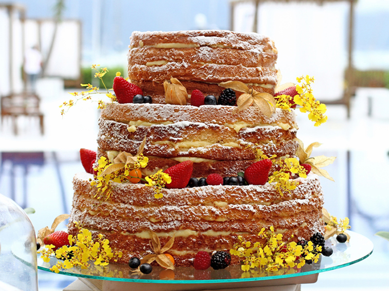 Naked Cake - Donnabella Comidaria - Casamento em Ilhabela