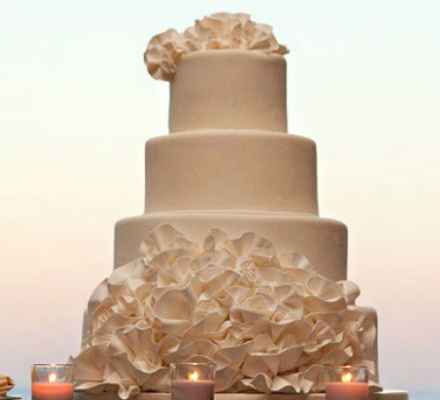Bolo de casamento na Grécia  - Casamento em Ilhabela