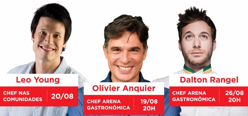 Masterchef Leo Young, Olivier Anquier e Dalton Rangel são atrações do Festival do Camarão de Ilhabela