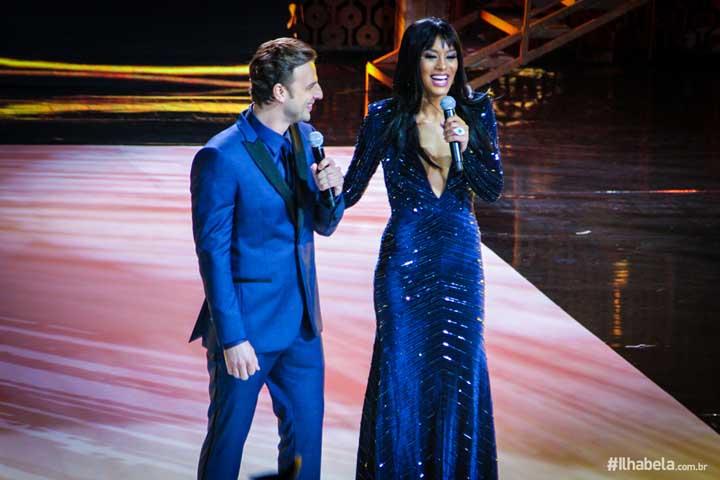 Cassio Reis e Raissa Santana no Miss Brasil 2017 em Ilhabela