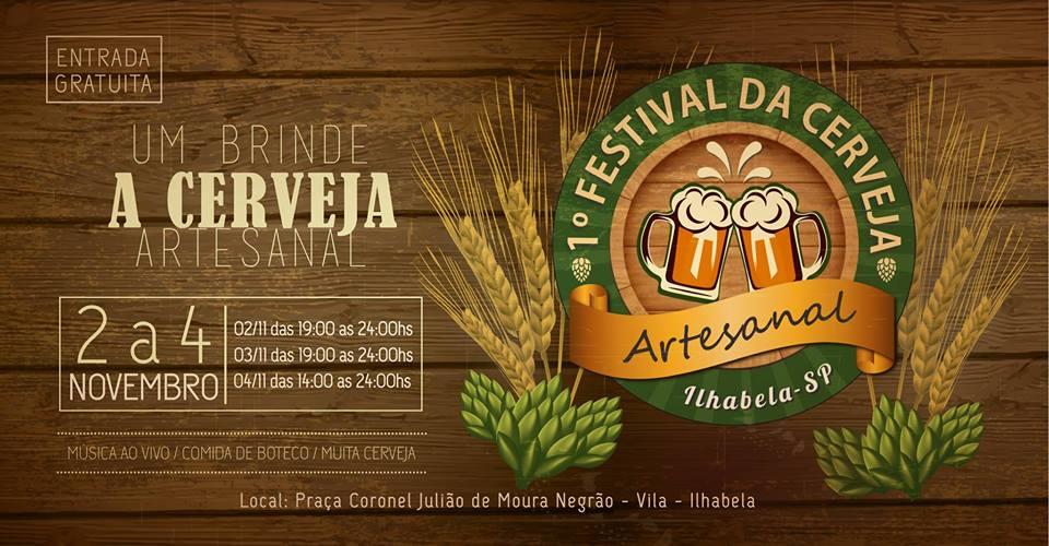 Primeiro Festival da Cerveja Artesanal de Ilhabela acontece de 2 a 5 de novembro