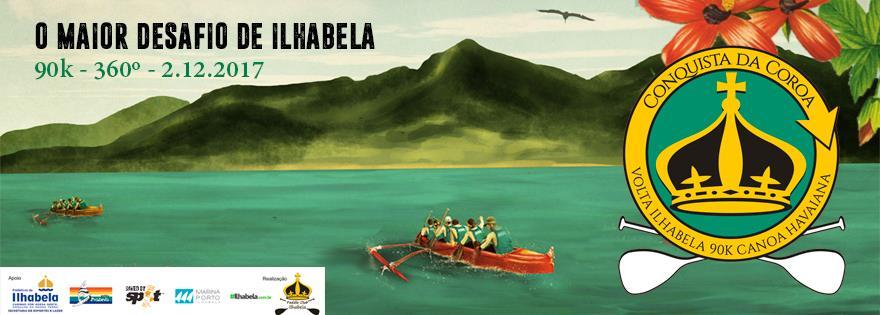 Conquista da Coroa - Volta em Ilhabela de Canoa Havaiana