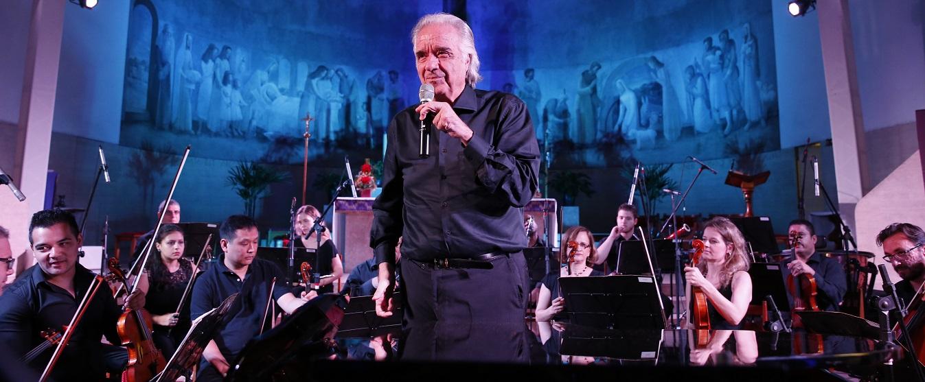 Bachiana Filarmonica SESI-SP com maestro João Carlos Martins em Ilhabela (Foto: Ayrton Vignola)