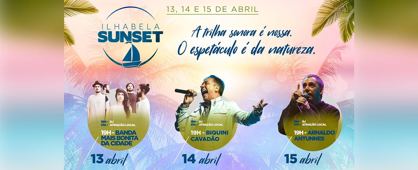 Ilhabela Sunset acontece de 13 a 15 de abril de 2018