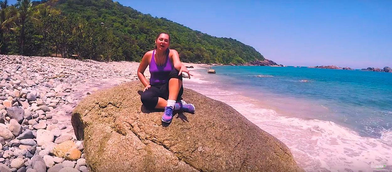 A quase deserta Praia das Enchovas - Especial Bonete - Ilhabela.com.br