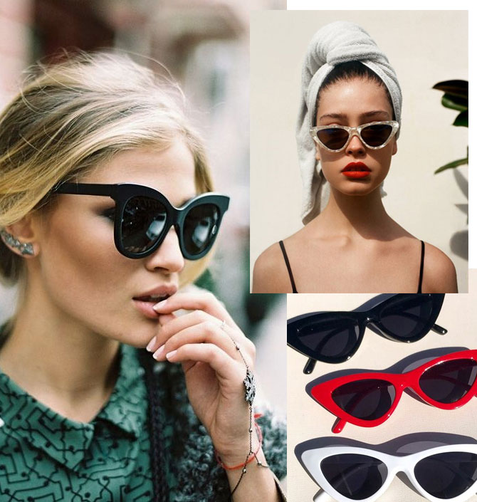 Óculos de Sol 2018 - Tendências para o Outono / Inverno - Cateye sunnies