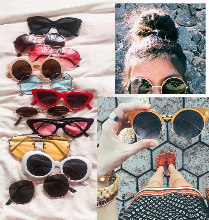 Óculos de Sol 2018 - Tendências para o Outono / Inverno - Cateye sunnies e lentes coloridas