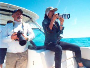 Julio Cardoso e Arlaine Francisco - Projeto Baleia à Vista (Foto: Aurélio Nascimento)