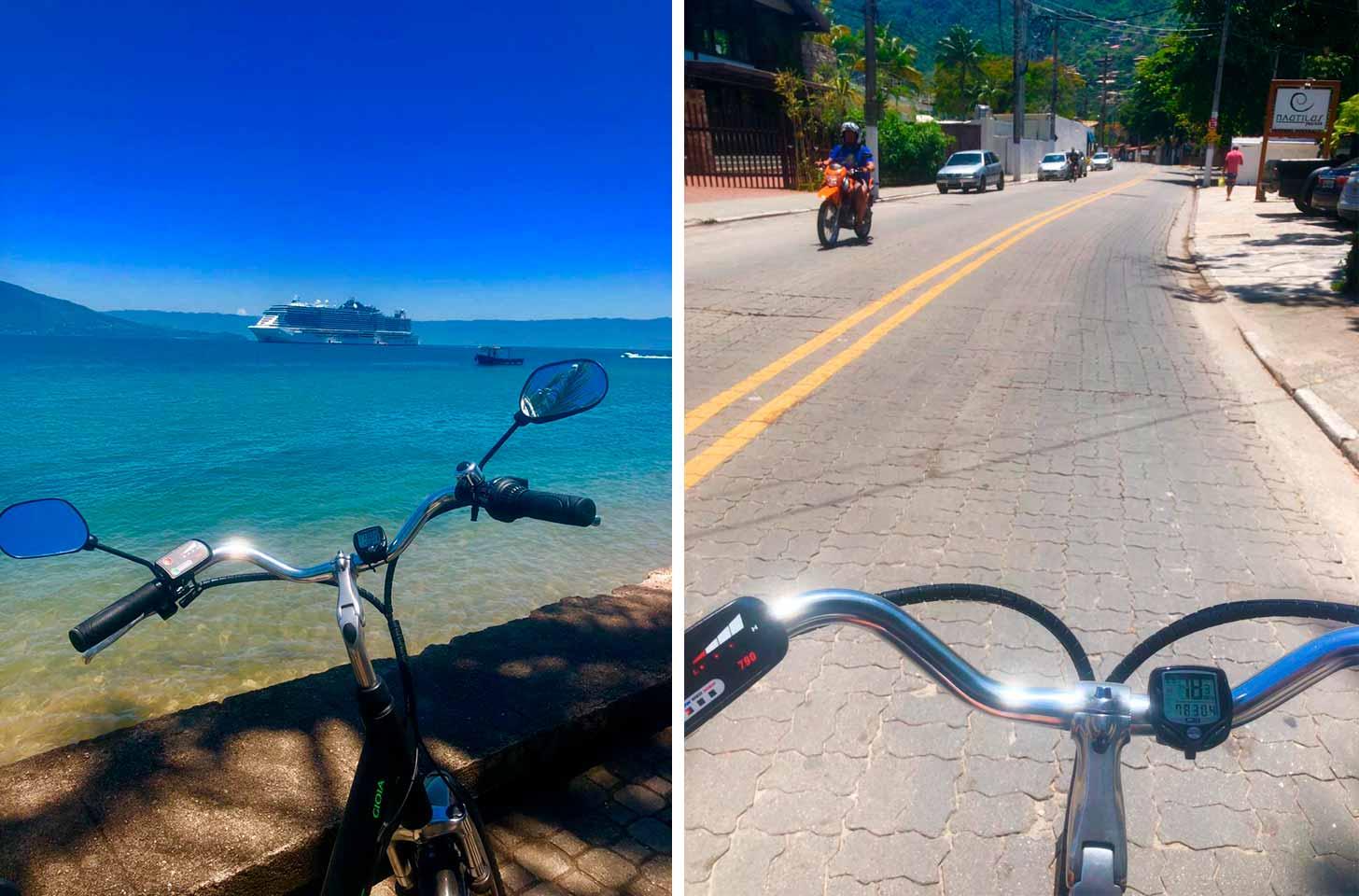 Teste da e-bike de Ilhabela para a Dome Bikes - Ilhabela.com.br