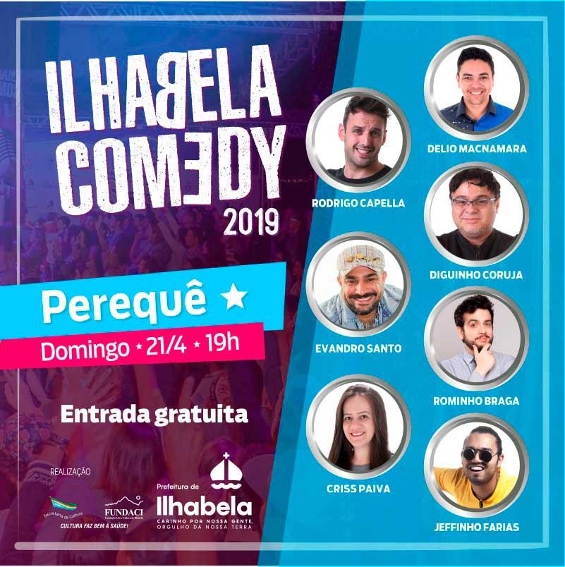 Ilhabela Comedy - Show de stand up comedy em Ilhabela - Abril de 2019