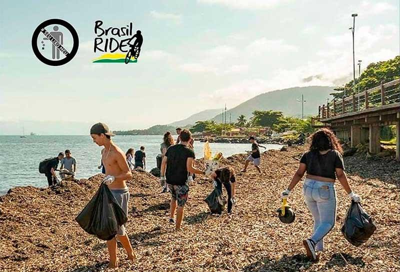 Projeto Seu Lixo Meu - Limpeza de Praias em Ilhabela - Brasil Ride