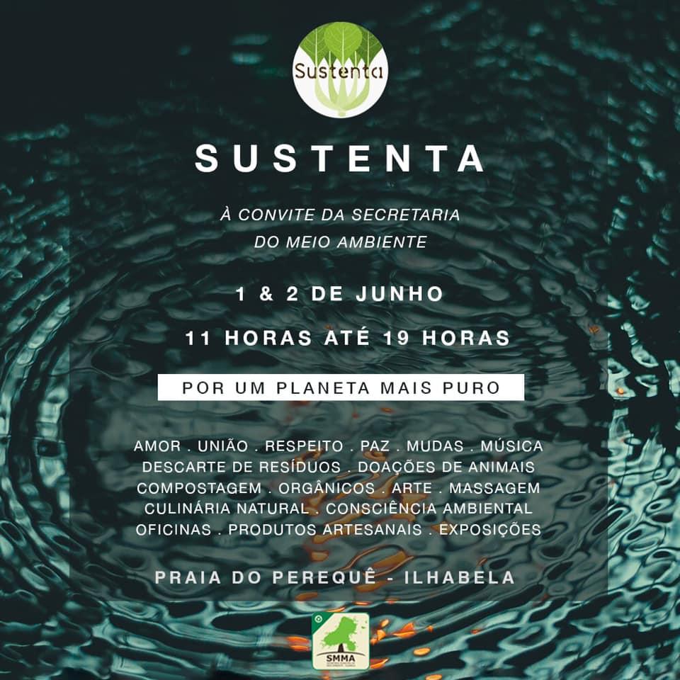 Sustenta Ilha acontece dias 1 e 2 de junho em Ilhabela e se juntam à Ação Mundial pelo Planeta