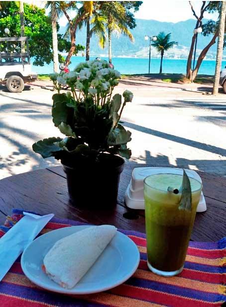 Restaurante Pôr do Sol Ilhabela - Tapioca e sucos