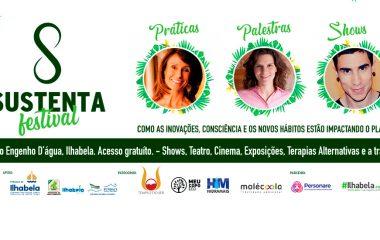 Festival Sustenta | Palestras, práticas terapêuticas, oficinas, shows e gastronomia vegetariana