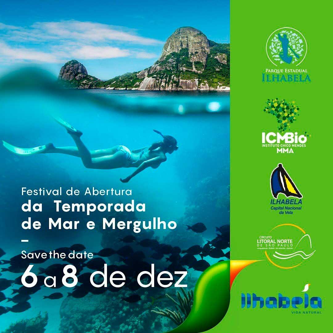 Festival de Abertura da Temporada de Mar e Mergulho de Alcatrazes - Programação em Ilhabela