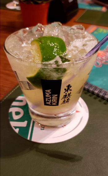 Drinks com Sakê - Esquina da Ilha Bar e Choperia em Ilhabela