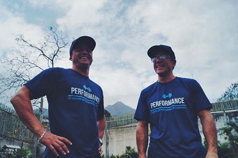 David e seu Coach Rodrigo, na Performance Ilhabela